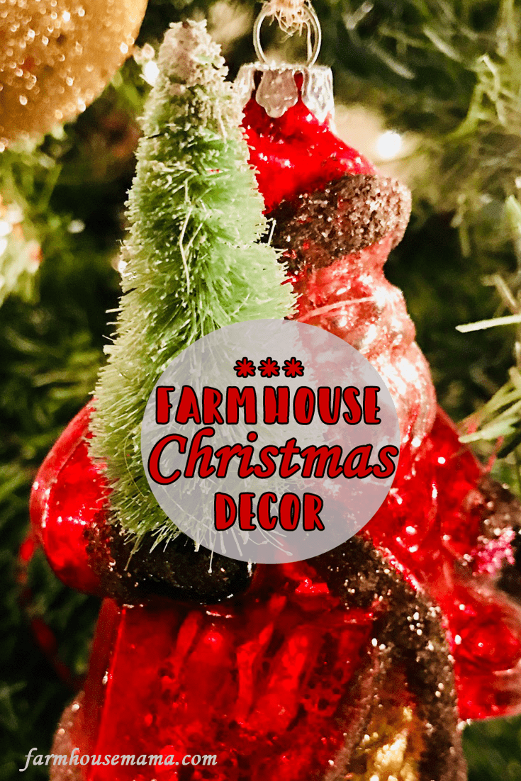 Time to share a tour of my farmhouse Christmas decor!! Click on the pic for the whole blog post which includes tips on how to achieve the look! #farmhousestyle #farmhousedecor #farmhousechic #ChristmasDecor #farmhousechristmas #FarmhouseChristmasDecor #potterybarn