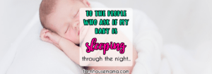 baby not sleeping through the night