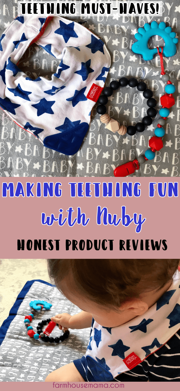 Teething can be painful so it's really helpful to have teethers that are effective, safe, and fun for your baby. These are some of the BEST teethers because they each have something unique that helps out mama, too! Click to read honest reviews on Nuby Teethers, including the Nuby Pacifinder with Bonus Teether, Nuby Teething Trends Beaded Bracelet, and the Nuby Reversible Teething Bib. Nuby Teethers #teethingessentials #bestteethers #teethingjewelry #teethingbib #teething #teethingtoys #teethers #nubyreviews
