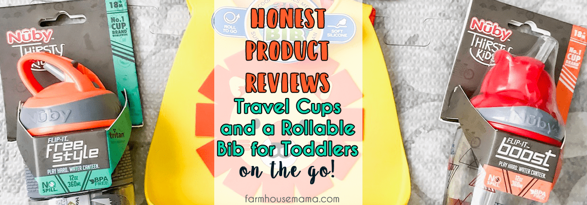 Review of Nuby Flip-It Cups and Silicone Bib