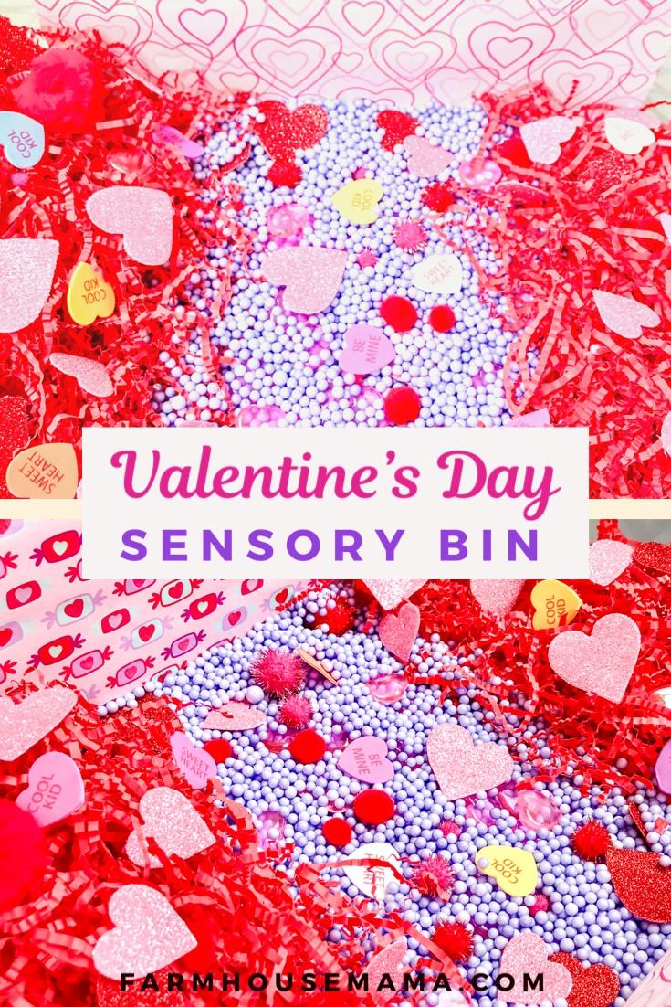 Valentine's Day Sensory Bin toddler sensory bin valentines activity valentines sensory bin