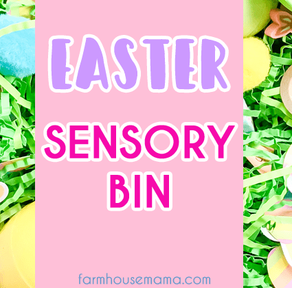 Easter Sensory Bin for Toddlers