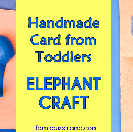 Elephant Balloon Craft: Handmade Card from Toddlers